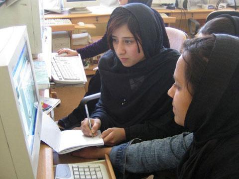 Afghanische Studentinnen